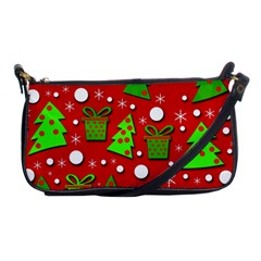 Christmas Trees And Gifts Pattern Shoulder Clutch Bags by Valentinaart