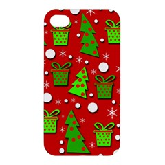 Christmas Trees And Gifts Pattern Apple Iphone 4/4s Premium Hardshell Case by Valentinaart