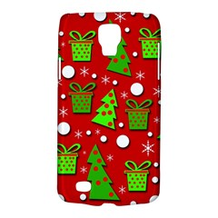 Christmas Trees And Gifts Pattern Galaxy S4 Active by Valentinaart