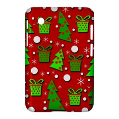 Christmas Trees And Gifts Pattern Samsung Galaxy Tab 2 (7 ) P3100 Hardshell Case