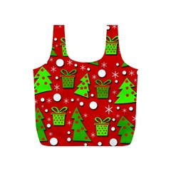Christmas Trees And Gifts Pattern Full Print Recycle Bags (s)  by Valentinaart