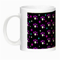 Purple Dots Pattern Night Luminous Mugs by Valentinaart