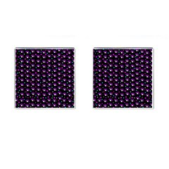 Purple Dots Pattern Cufflinks (square)