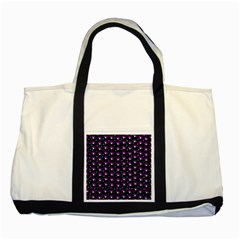 Purple Dots Pattern Two Tone Tote Bag by Valentinaart