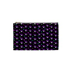 Purple Dots Pattern Cosmetic Bag (small)