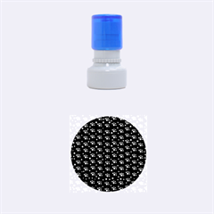 Purple Dots Pattern Rubber Round Stamps (small)