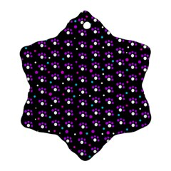 Purple Dots Pattern Ornament (snowflake)  by Valentinaart