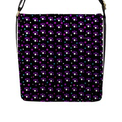 Purple Dots Pattern Flap Messenger Bag (l)  by Valentinaart