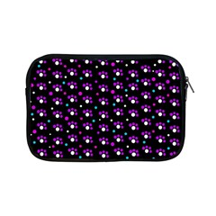 Purple Dots Pattern Apple Ipad Mini Zipper Cases by Valentinaart