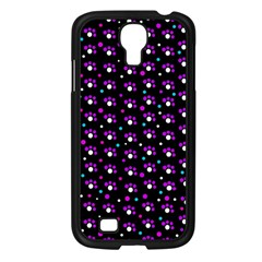 Purple Dots Pattern Samsung Galaxy S4 I9500/ I9505 Case (black) by Valentinaart