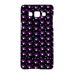 Purple Dots Pattern Samsung Galaxy A5 Hardshell Case  by Valentinaart