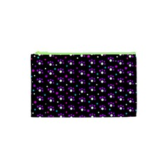 Purple Dots Pattern Cosmetic Bag (xs) by Valentinaart