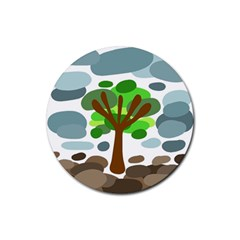 Tree Rubber Round Coaster (4 Pack)  by Valentinaart