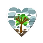 Tree Heart Magnet Front