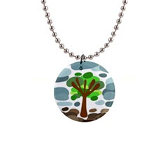 Tree Button Necklaces