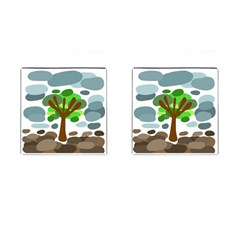 Tree Cufflinks (square) by Valentinaart