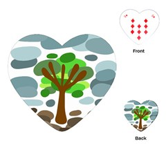 Tree Playing Cards (heart)  by Valentinaart