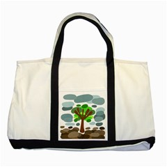 Tree Two Tone Tote Bag by Valentinaart