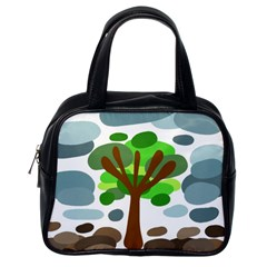 Tree Classic Handbags (one Side) by Valentinaart