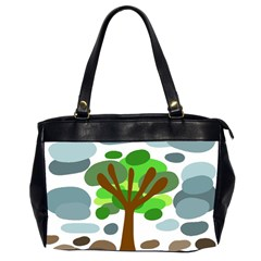 Tree Office Handbags (2 Sides)  by Valentinaart