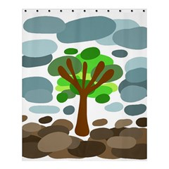 Tree Shower Curtain 60  X 72  (medium)  by Valentinaart