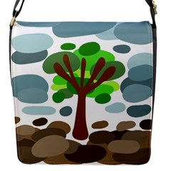 Tree Flap Messenger Bag (s) by Valentinaart