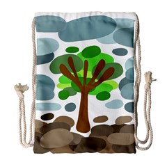 Tree Drawstring Bag (large) by Valentinaart