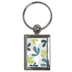 Elegant Floral Design Key Chains (rectangle)  by Valentinaart