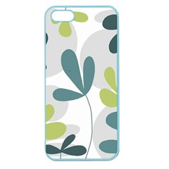 Elegant Floral Design Apple Seamless Iphone 5 Case (color) by Valentinaart