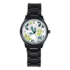 Elegant Floral Design Stainless Steel Round Watch by Valentinaart