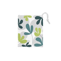 Elegant Floral Design Drawstring Pouches (xs)  by Valentinaart