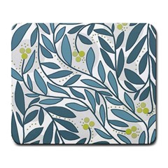 Blue Floral Design Large Mousepads by Valentinaart