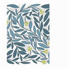 Blue Floral Design Large Garden Flag (two Sides) by Valentinaart