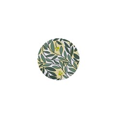 Green Floral Pattern 1  Mini Buttons by Valentinaart