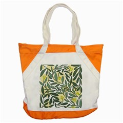 Green Floral Pattern Accent Tote Bag by Valentinaart