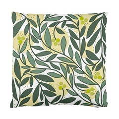 Green Floral Pattern Standard Cushion Case (two Sides) by Valentinaart