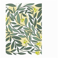 Green Floral Pattern Small Garden Flag (two Sides) by Valentinaart