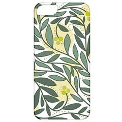 Green Floral Pattern Apple Iphone 5 Classic Hardshell Case by Valentinaart
