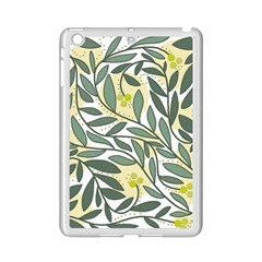Green Floral Pattern Ipad Mini 2 Enamel Coated Cases by Valentinaart
