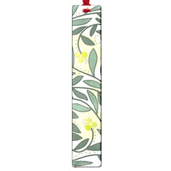 Green Floral Pattern Large Book Marks by Valentinaart