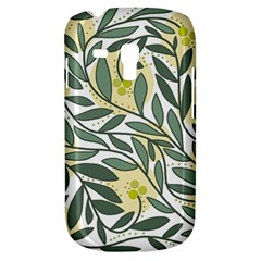 Green Floral Pattern Samsung Galaxy S3 Mini I8190 Hardshell Case by Valentinaart