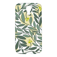 Green Floral Pattern Samsung Galaxy S4 I9500/i9505 Hardshell Case by Valentinaart