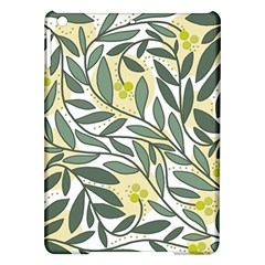 Green Floral Pattern Ipad Air Hardshell Cases by Valentinaart
