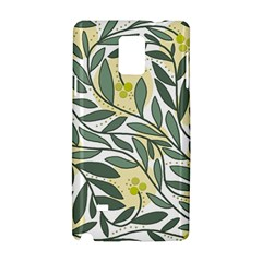 Green Floral Pattern Samsung Galaxy Note 4 Hardshell Case by Valentinaart
