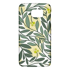 Green Floral Pattern Galaxy S6