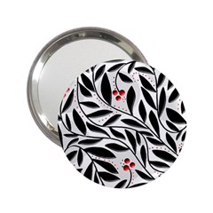 Red, Black And White Elegant Pattern 2 25  Handbag Mirrors by Valentinaart