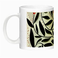 Red, Black And White Elegant Pattern Night Luminous Mugs by Valentinaart