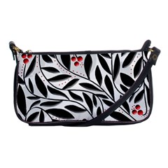 Red, Black And White Elegant Pattern Shoulder Clutch Bags by Valentinaart