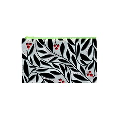 Red, Black And White Elegant Pattern Cosmetic Bag (xs) by Valentinaart