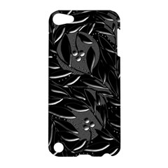 Black Floral Design Apple Ipod Touch 5 Hardshell Case by Valentinaart